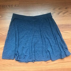 Express casual blue skater skirt - M